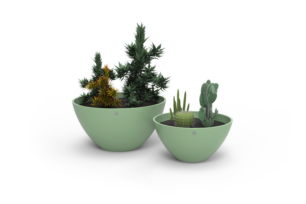 Moon Vases Green