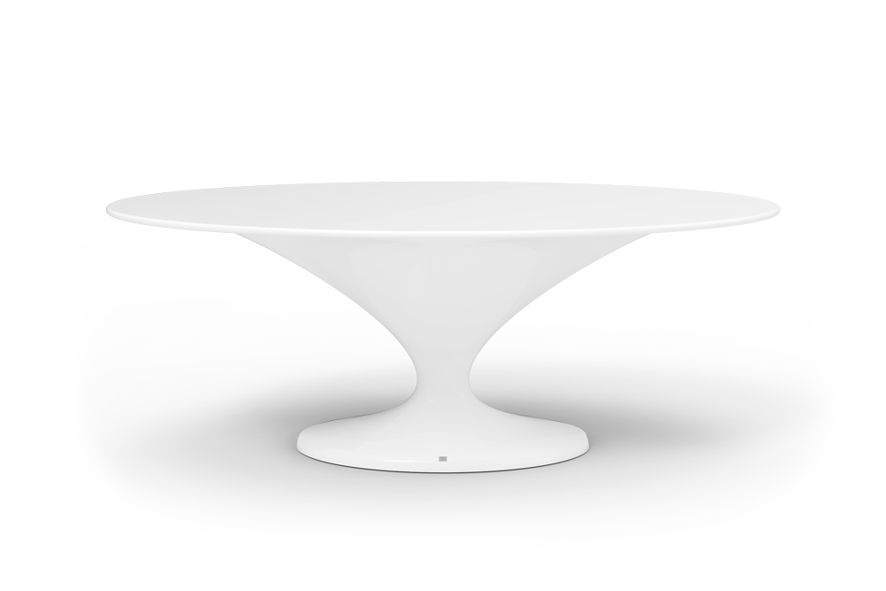 Charm Oval Dining Table White