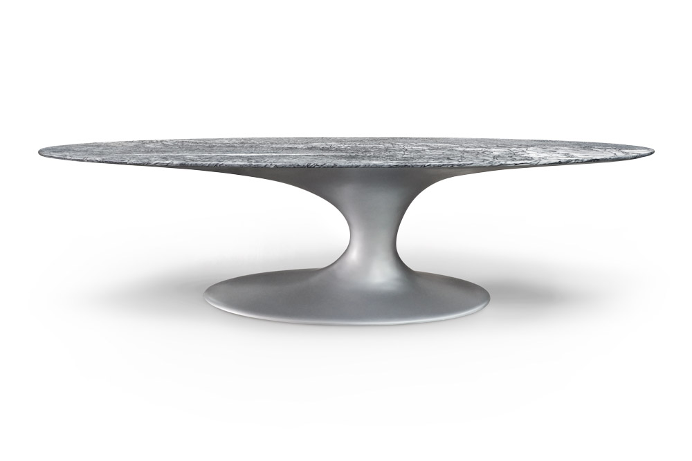 Jade Oval Dining Table With Ruivina Marble