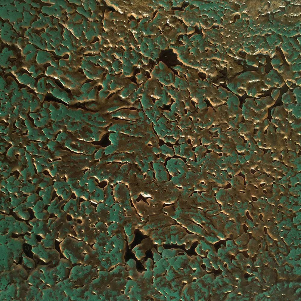 Knockdown Texture and Verdigris Brass Finish