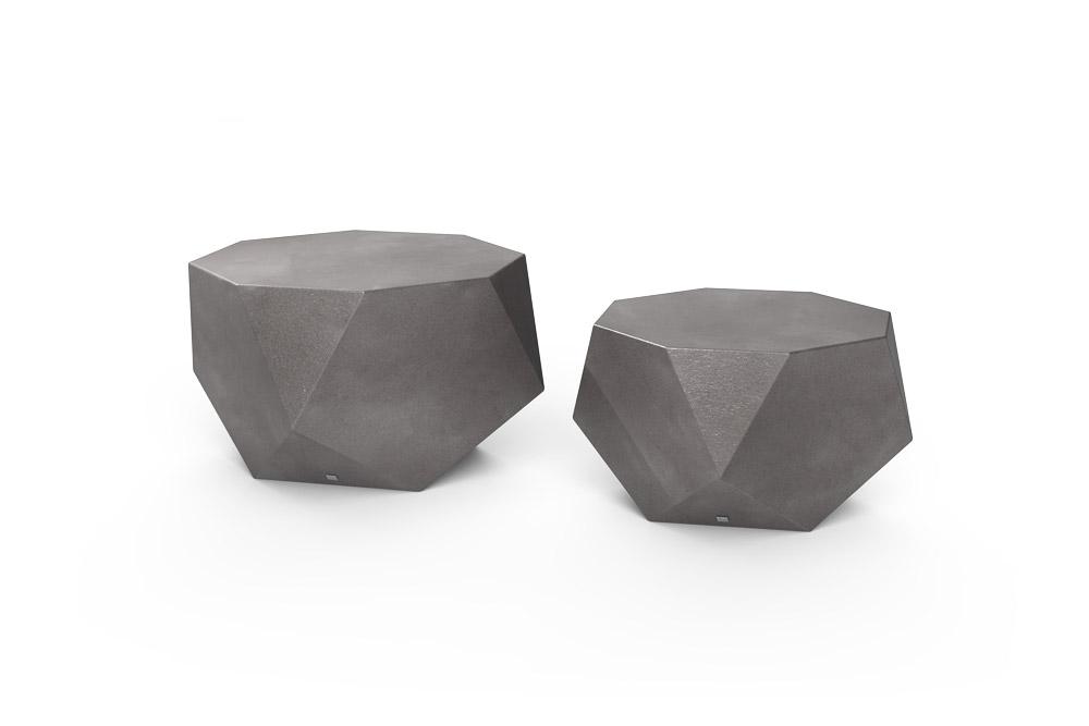 Mesa de Centro Diamond Cor Alumínio