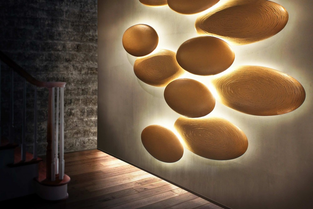 Lighting Panel Stones with Textured Finish